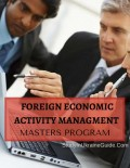 Foreign Economic Activity Managment Masters
