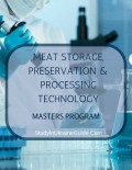 Meat Storage Preservation and Processing Technology Masters