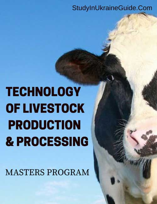 Technology of Livestock Production and Processing Masters